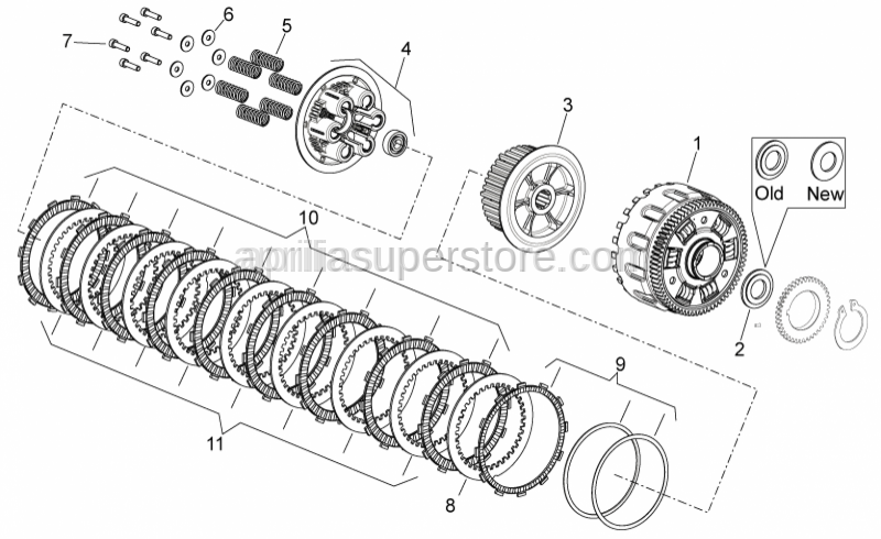 Aprilia - SCREW WITH HEAD CYLINDER COMP. OF WASHER