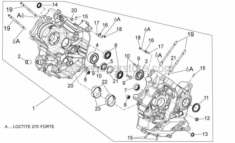 Aprilia - cylinder stud