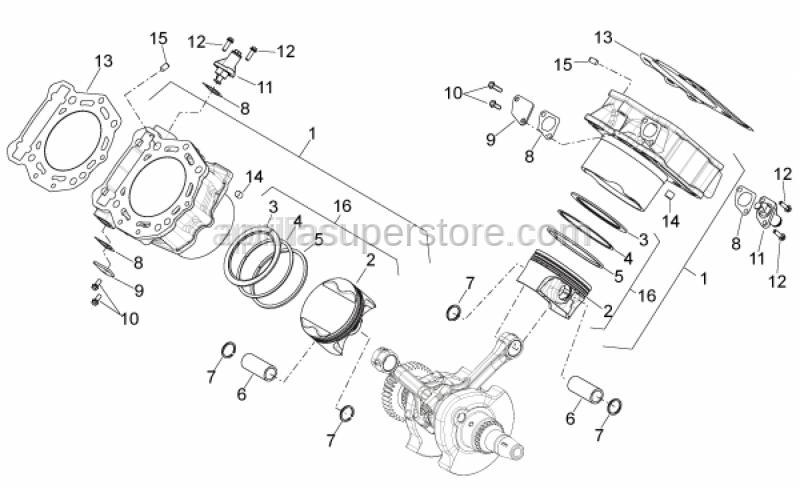 Aprilia - wristpin retaining clip