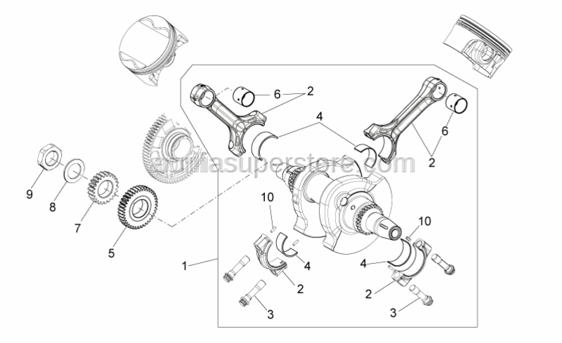Aprilia - HALF BEARING FOR PISTON-ROD
