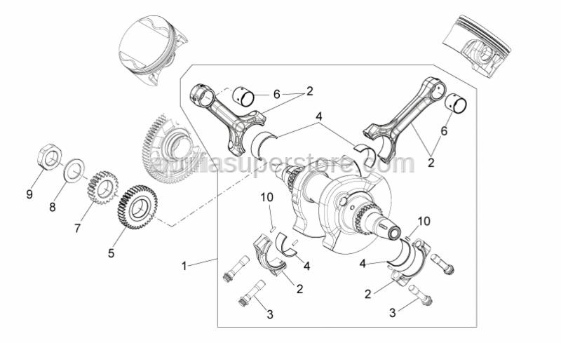 Aprilia - PRIMARY REDUCTION DRIVING GEAR