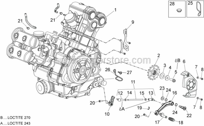 Aprilia - Gearbox linkage rod assy