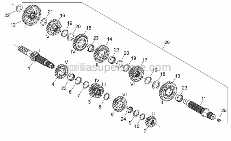 Aprilia - TAPER THREAD M10X10