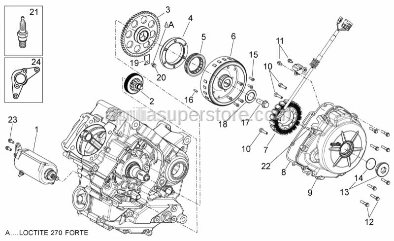 Aprilia - flywheel securing washer 30x14,1x3