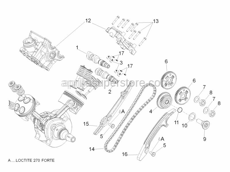 Aprilia - Nut M15x1 SX