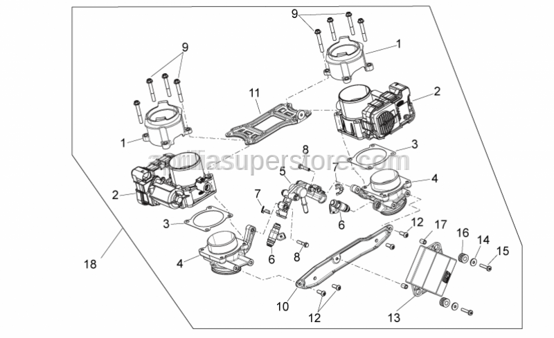 Aprilia - THROTTLE VALVE BODY