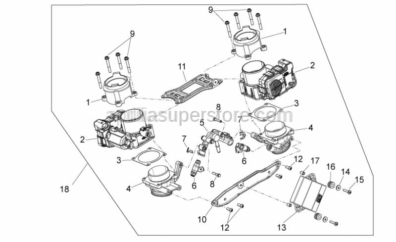 Aprilia - Gearcase drive by wire