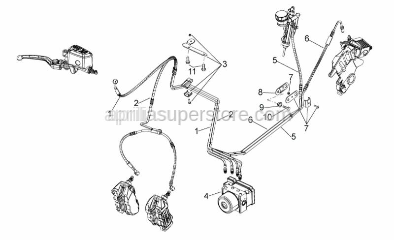 Aprilia - Screw w/ flange M8x25