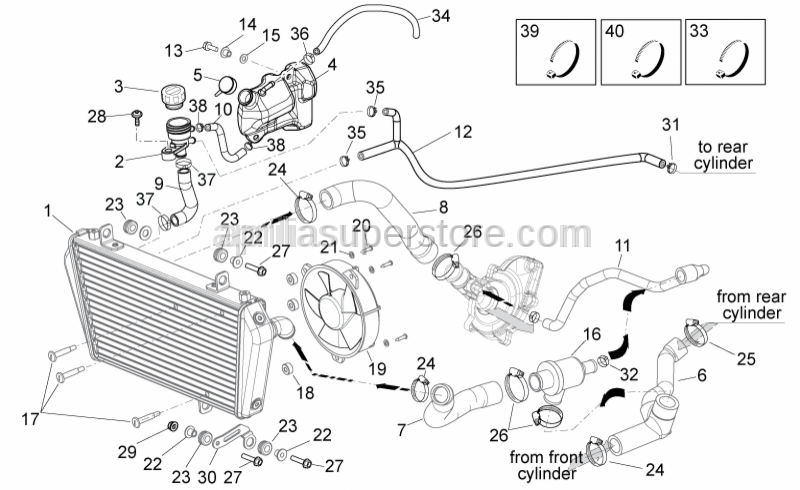 Aprilia - THERMOSTAT VALVE SET