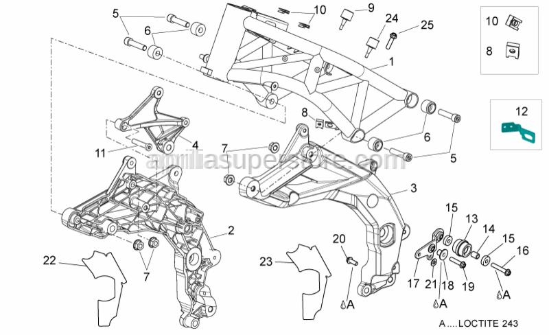 Aprilia - Drift M6x10-25x15