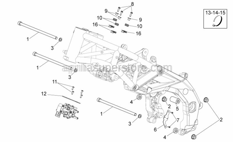Aprilia - Hex socket screw M4x10*