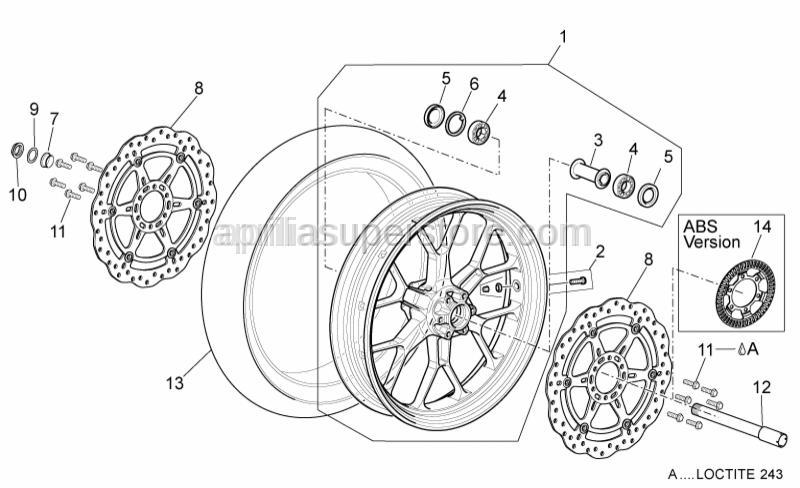 Aprilia - Ball bearing 25x47x12