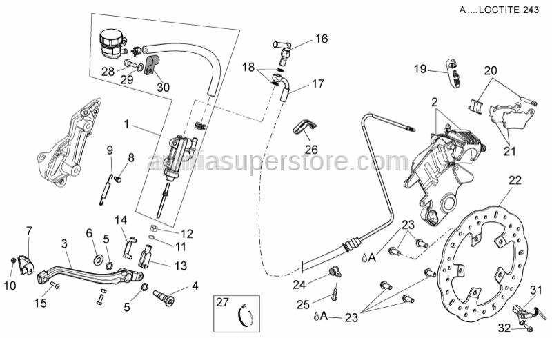 Aprilia - Rear brake disc D.240 MM