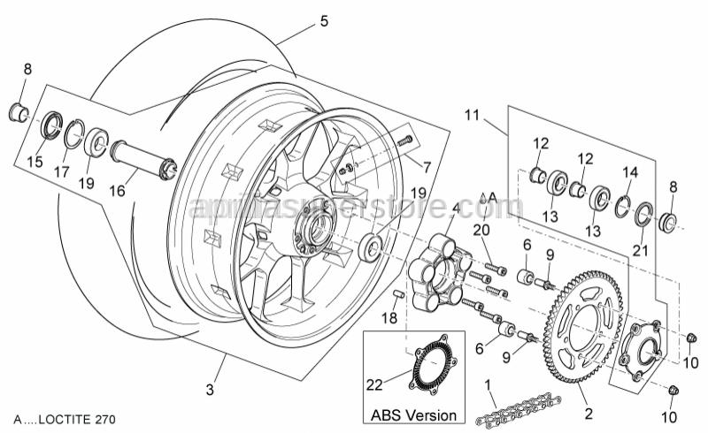 Aprilia - Gasket ring 30x52x7