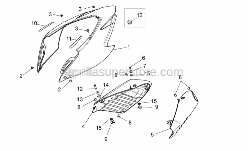 Aprilia - Hex socket screw M6x30*