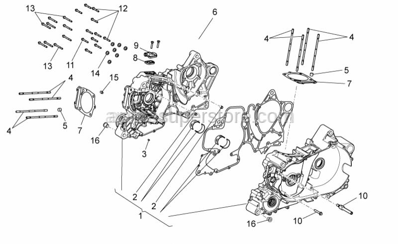 Aprilia - Stud bolt M10X1.25X166