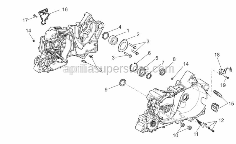 Aprilia - nozzle for engine sidecase