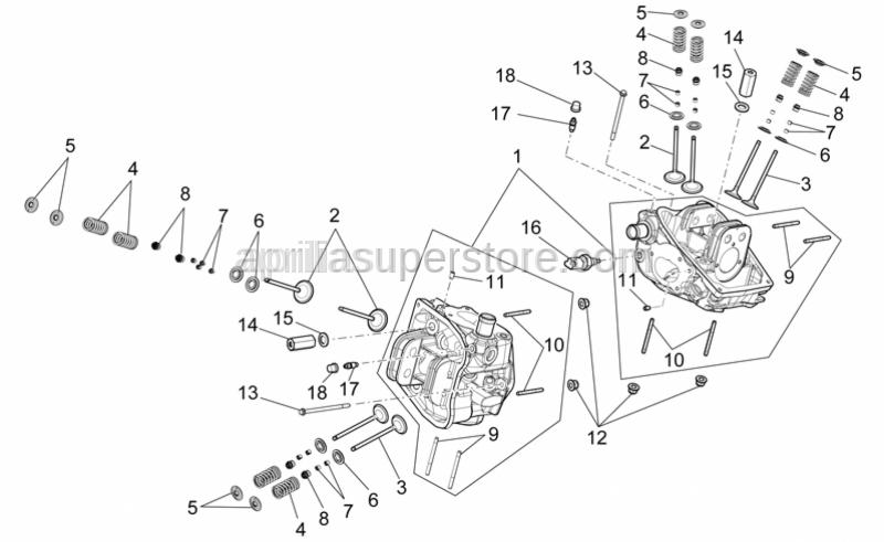 Aprilia - breather valve for cylinder head
