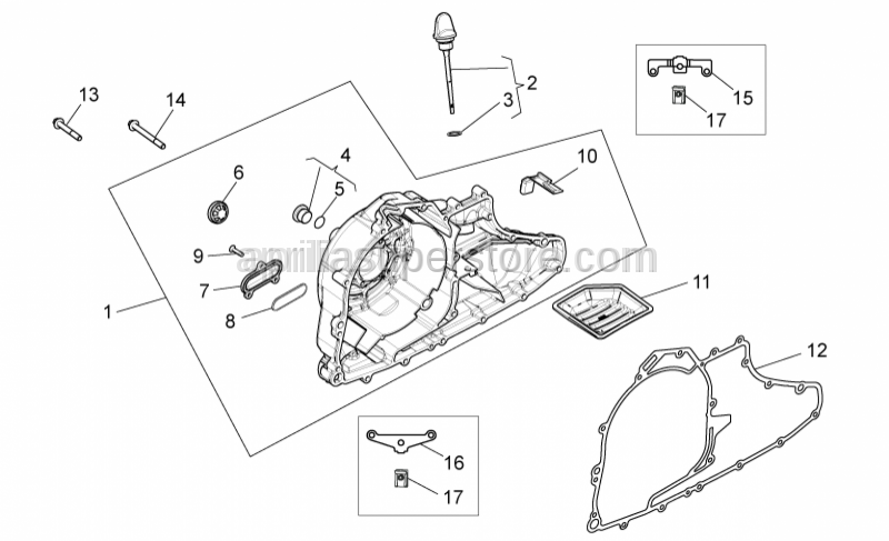 Aprilia - FLYWHEEL COVER GASKET.