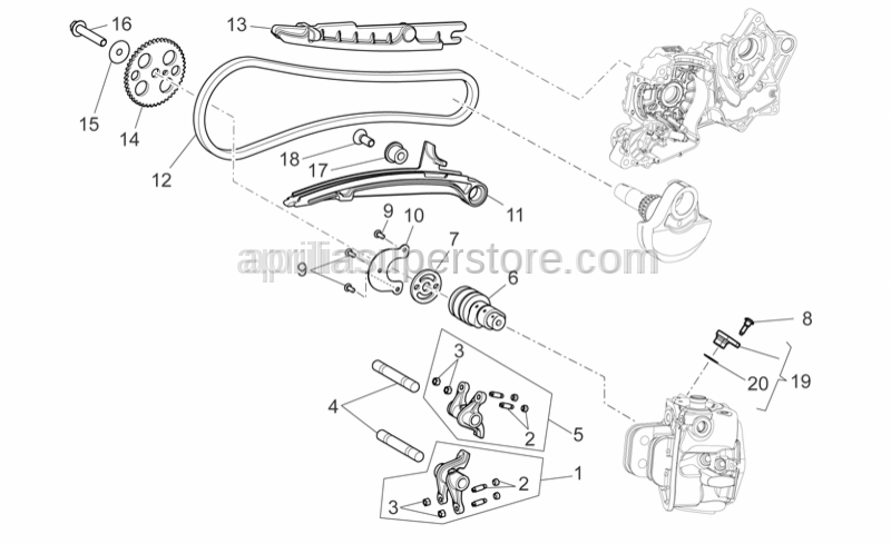 Aprilia - rocker arm shaft