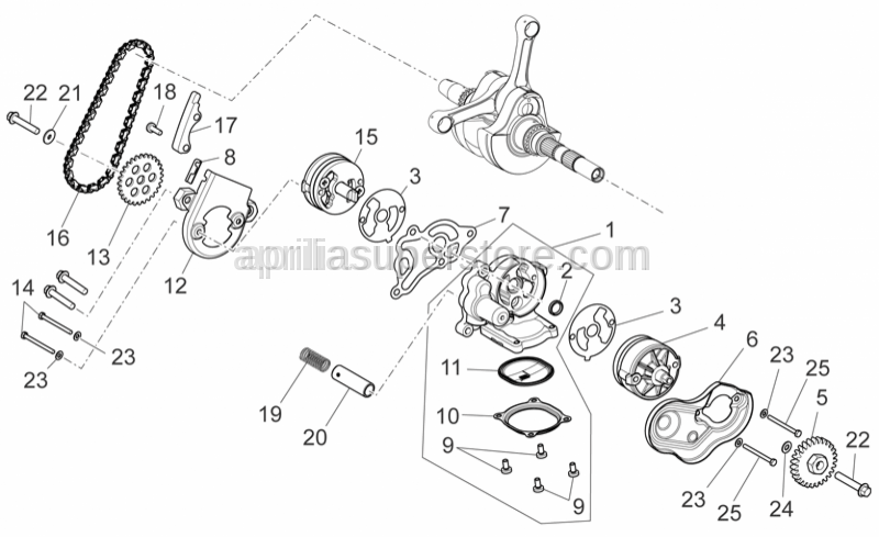 Aprilia - CYLINDER HEAD SCREW