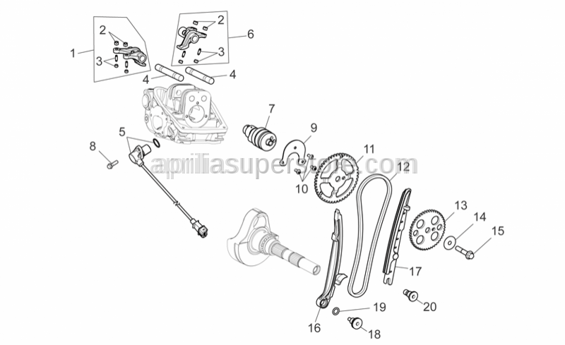 Aprilia - INAMOVABLE REAR CAMSHAFT