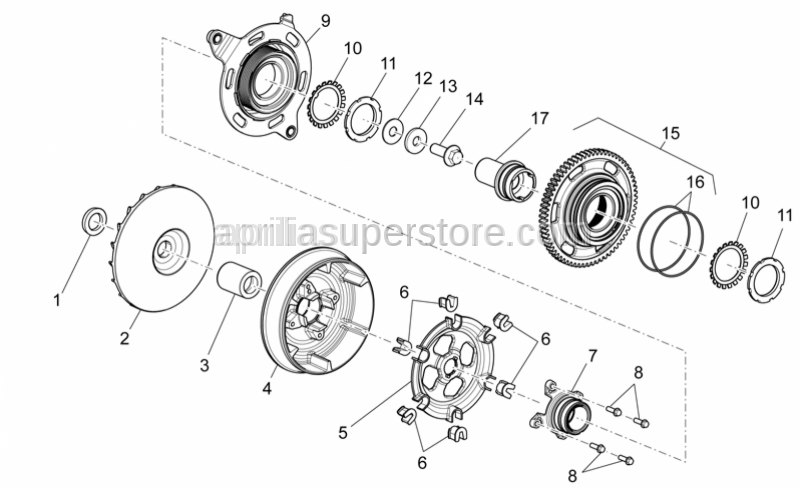 Aprilia - BALL BEARING HOUSING WITH I.P.