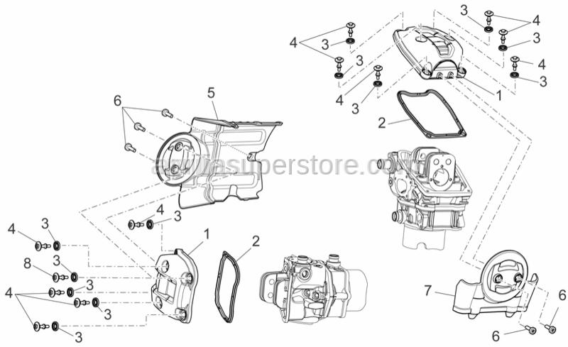 Aprilia - Cylinder head cover gasket