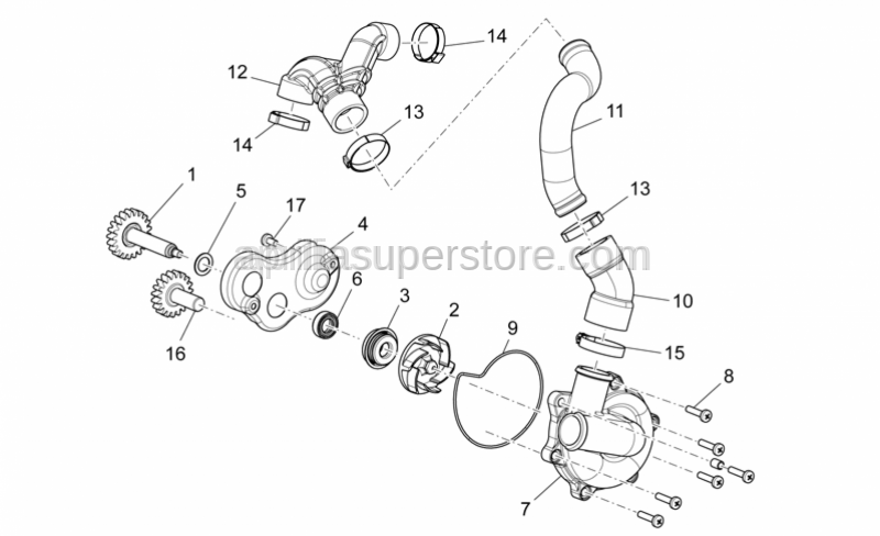 Aprilia - clamp for radiator hose