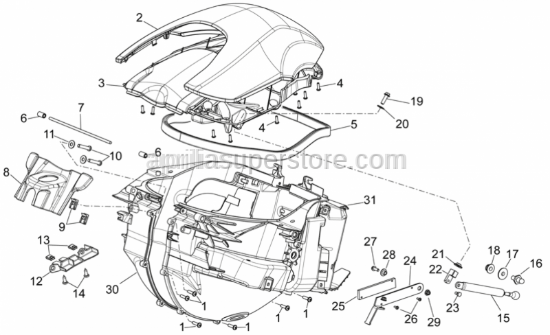 Aprilia - Steering lock cover