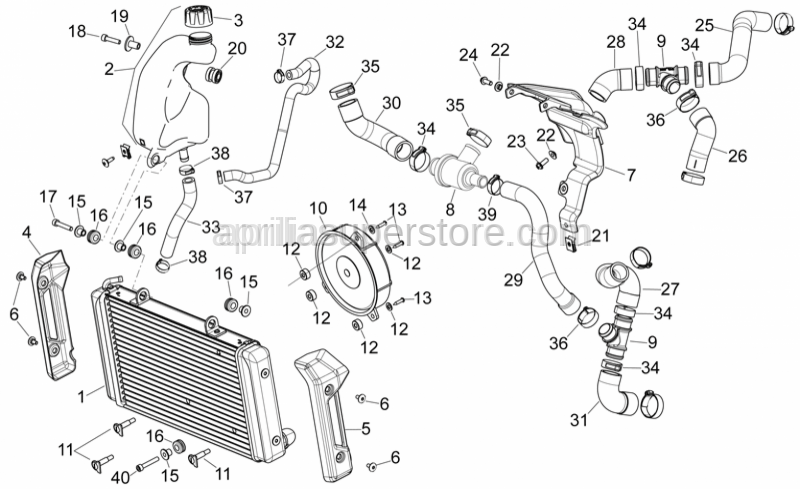 Aprilia - Thermostat valve set 75C