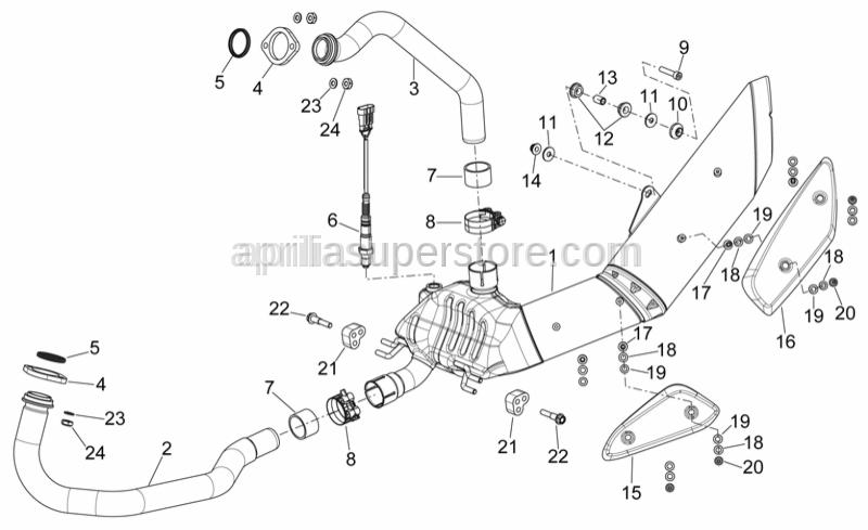 Aprilia - exhuast clamp