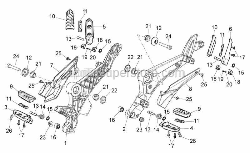Aprilia - Hex socket screw M10x65*