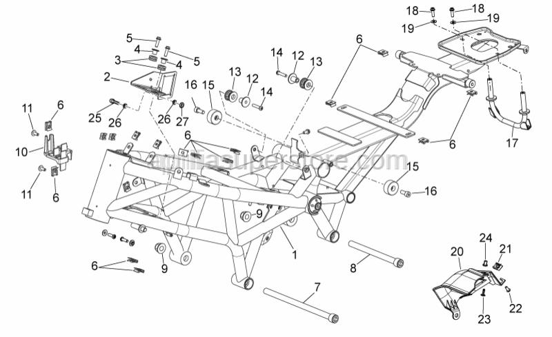 Aprilia - DAX flange nut M14x1,5