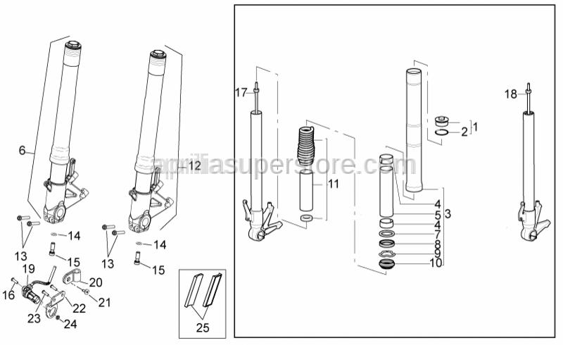 Aprilia - Kit Spring + Pipe