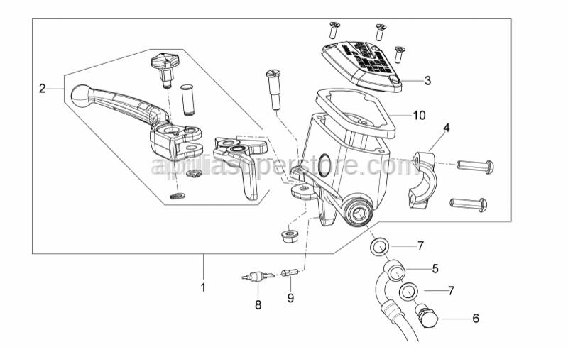 Aprilia - Front brake pump D14, ABS version