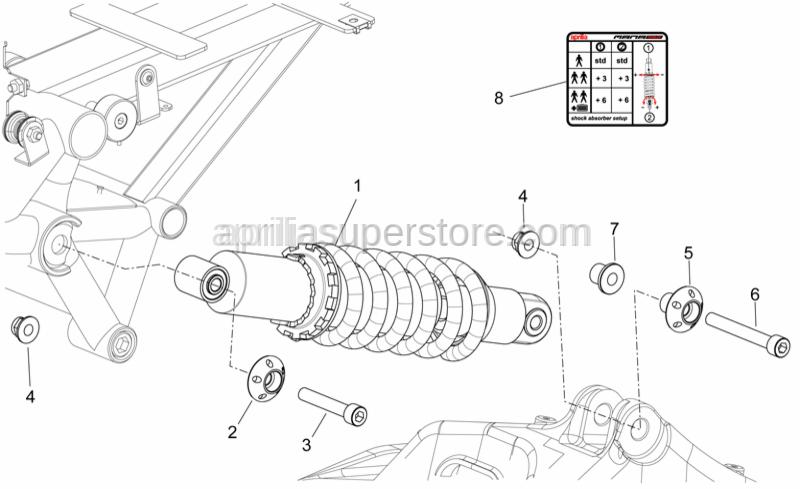 Aprilia - Hex socket screw M10x80