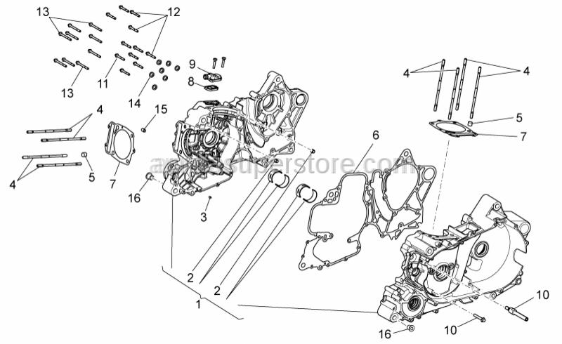 Aprilia - Cylinder base gasket 0,6