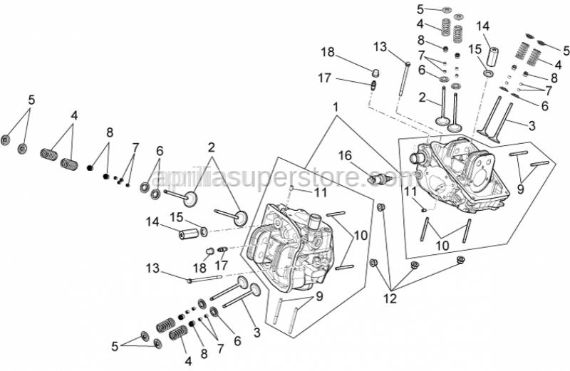 Aprilia - Exhaust pipe stud bolt M8X3X46
