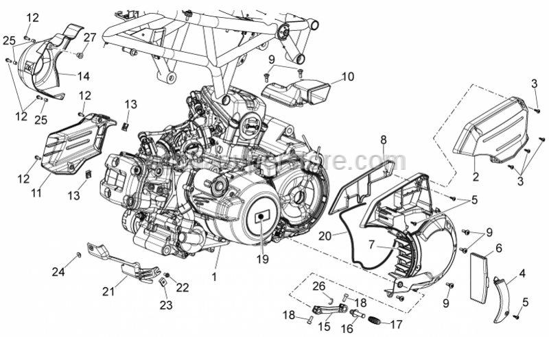 Aprilia - Engine 850 4T8V E3