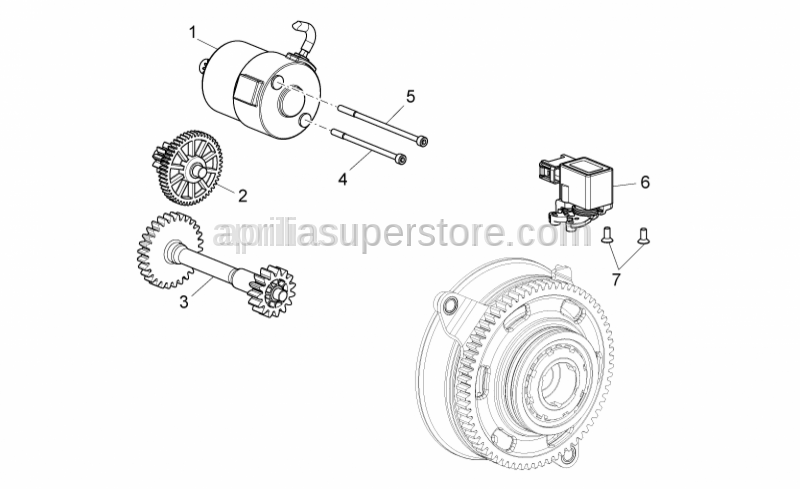 Aprilia - Double gear for shift motor