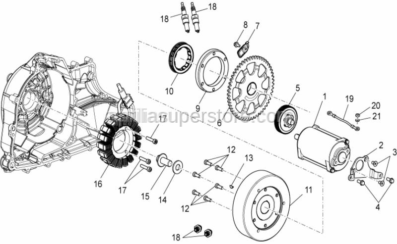Aprilia - Engine-frame ground wiring