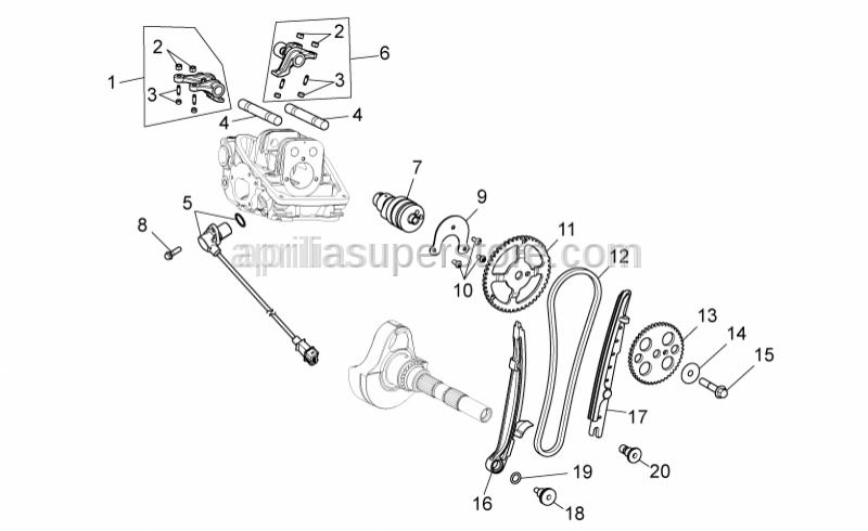 Aprilia - Screw w/ flange M6x16