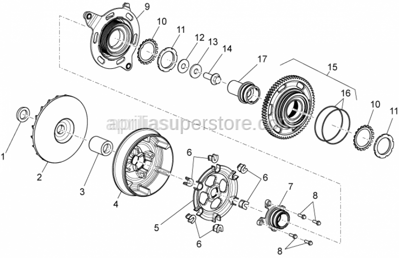 Aprilia - Half-pulley assy., driving mobile