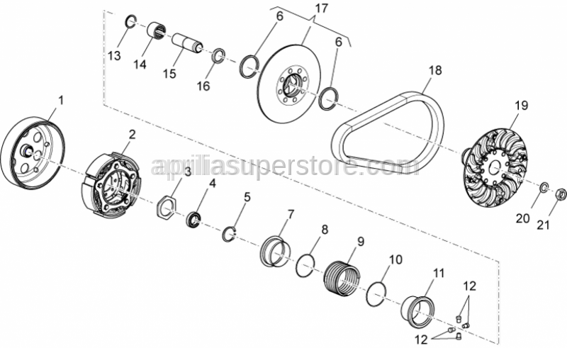 Aprilia - Fixed half-pulley
