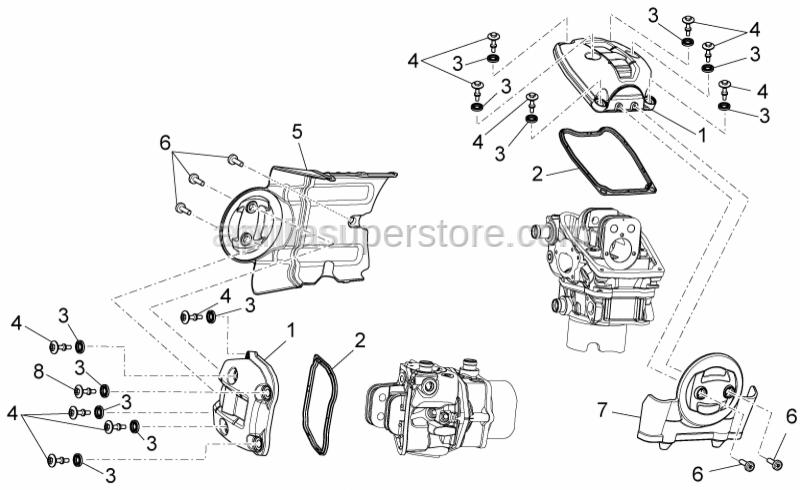 Aprilia - Rear cylinder cover