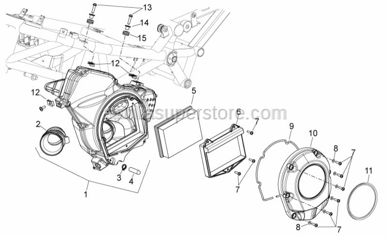 Aprilia - Curved spring washer 5,3x10x0,5