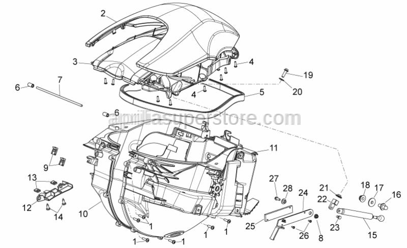 Aprilia - Helmet compartm.cover protect.