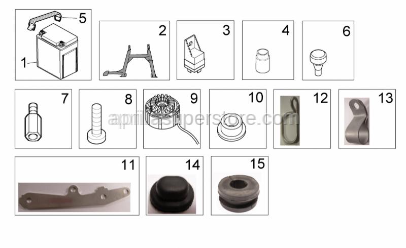 Aprilia - plastick brakeline clamp
