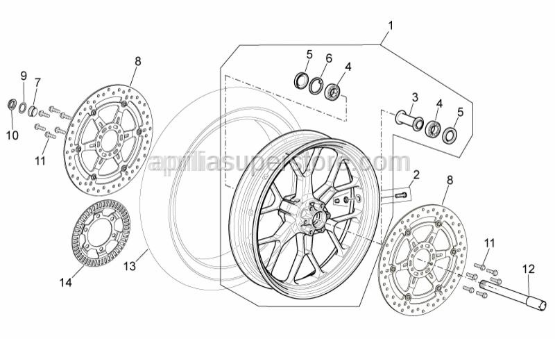 Aprilia - Front/rear tyre 120/70-R17 Pirelli